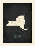 New York - sfondo nero Poster di Rebecca Peragine