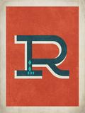 Lettera R vintage Stampa di Rebecca Peragine