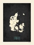 Danimarca - sfondo nero Stampe di Rebecca Peragine