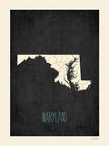 Maryland - sfondo nero Poster di Rebecca Peragine