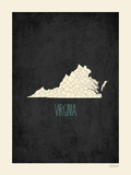 Virginia - sfondo nero Stampe di Rebecca Peragine