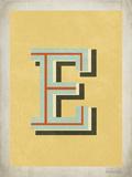 Lettera E vintage Stampe di Rebecca Peragine