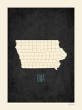 Iowa - sfondo nero Stampa di Rebecca Peragine
