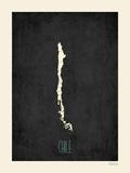 Cile - sfondo nero Stampe di Rebecca Peragine
