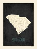 South Carolina - sfondo nero Poster di Rebecca Peragine