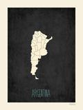 Argentina - sfondo nero Poster di Rebecca Peragine