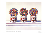 Three Machines (1963) Posters by Wayne Thiebaud