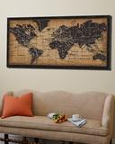 Carte ancienne du monde Poster