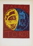 Toros en Vallauris Impressão colecionável por Pablo Picasso
