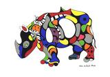 Rhinoceros Serigrafi (silketryk) af Niki de Saint Phalle