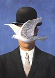 L'homme au chapeau melon (No Border) Plakater af Rene Magritte