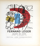 Musee de Lyon Samletrykk av Fernand Leger