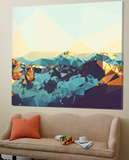 Fractal Mountain Sunset Prints by  THE Studio