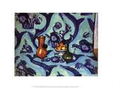 Still Life with Blue Tablecloth Samletrykk av Henri Matisse