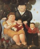 Una Famiglia Samlertryk af Fernando Botero