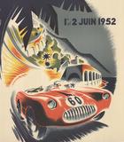 Monaco Grand Prix 1952 Samlertryk af B. Minne
