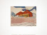 House on the Beach Samlarprint av Max Pechstein