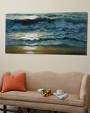 Shoreline Study 04215 Poster by Carole Malcolm