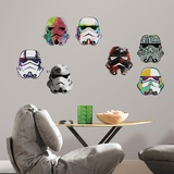 Star Wars Artistic Stormtrooper Heads Wall Decal