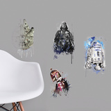 Star Wars Iconic Watercolor Peel and Stick Wall Decals Wall Decal