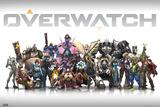 Overwatch – karakterer i midten Plakater