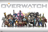Overwatch personages gecentreerd Posters