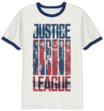 Justice League Movie - Strips Ringer T-Shirt