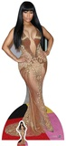 Nicki Minaj - guldklänning - inklusive mini-pappfigur Pappfigurer