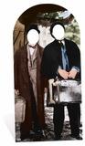 """Laurel and Hardy (""""Helan och Halvan"""") - pappfigur med hål för ansikten Pappfigurer"""