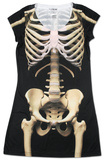 Skeleton Dress Robe mini