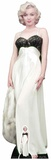 Marilyn Monroe - vit klänning - inklusive mini-pappfigur Pappfigurer