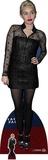Miley Cyrus en robe noire - Mini silhouette en carton incluse Silhouettes découpées en carton