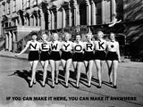 New York you can make it here (New York, qui è il posto giusto per farcela) Poster