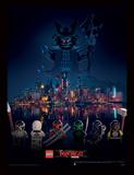 La LEGO Ninjago película - Haciendo frente a la amenaza Lámina de coleccionista