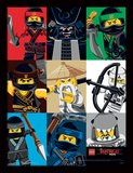 Lego Ninjago - il film - quadrati colorati Stampa del collezionista