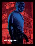 Blade Runner 2049 - Harrison Ford sous la pluie Reproduction encadrée pour collectionneurs