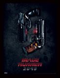 Blade Runner 2049 - Affiche aux pistolets Reproduction encadrée pour collectionneurs