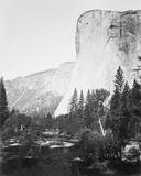 El Capitain - 3600 ft., Yosemite Giclée-Druck von Carleton E Watkins