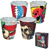 Grateful Dead - Tie Dye Glass Shotglass 4-Pack Novelty