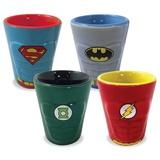 DC Heroes - Molded Ceramic Shotglass 4-Pack Novelty