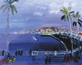 Baie Des Anges, Nice c.1926 Reproduction procédé giclée par Raoul Dufy