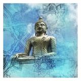 Buddha-Mandala Affiches par Victoria Brown