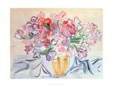 Vase De Pois De Senteur Giclee-trykk av Raoul Dufy