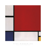 Composition with Red, Blue and Yellow, 1930 Affiches par Piet Mondrian