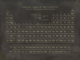 Periodic Table Giclee Print by  The Vintage Collection