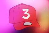 Röd keps med siffran 3 Affischer