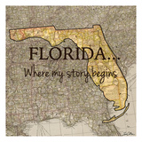 Story Florida Kunst av Tina Carlson