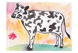 Farmhouse Cow in color Posters par Beverly Dyer
