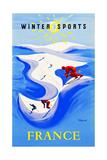 Winter Sports-France ポスター : ベルナール・ヴューモ