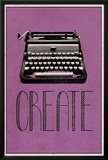 Create Retro Typewriter Player Art Poster Print Posters
